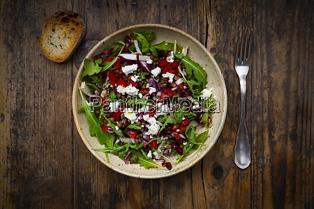 bowl of vegetable salad with lentils