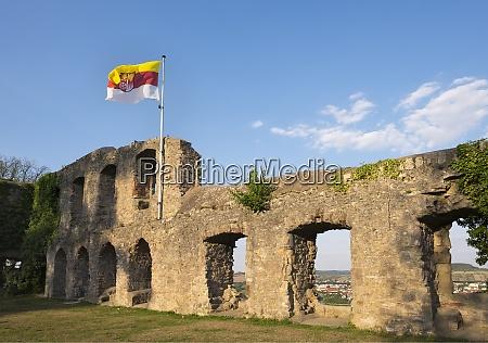 germany bavaria karlstadt karlsburg castle ruin