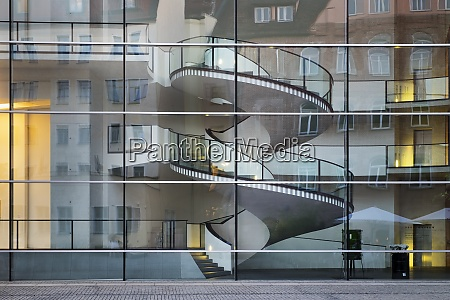 germany nuremberg glass facade of neues