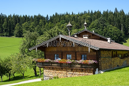 rustic chalet in summer