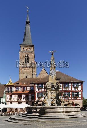germany bavaria franconia schwabach church town
