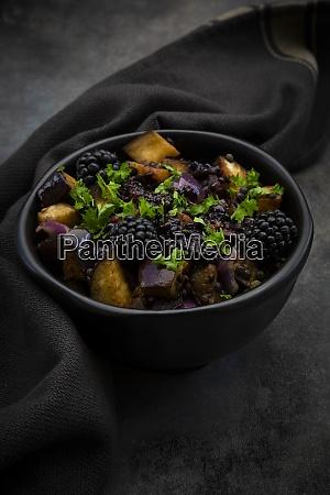 studio shot of bowl of vegetarian