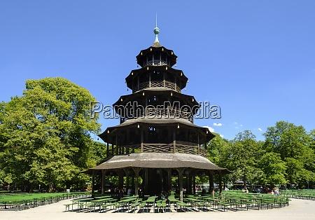 germany munich english garden chinese tower