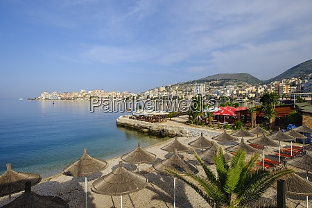 albania vlore county saranda beach and