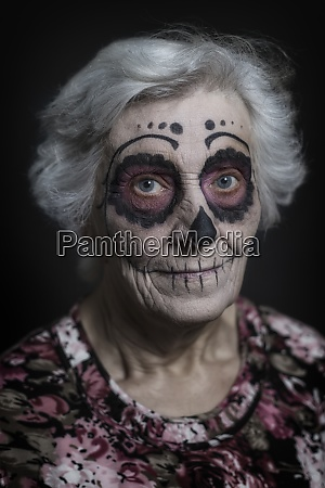portrait of senior woman with sugar