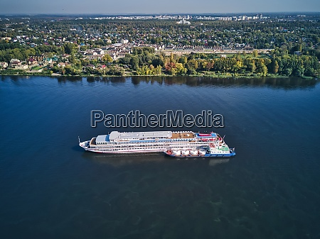 aerial, view, of, recreational, boat, being - 29121010