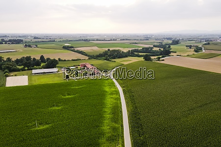 drone, view, of, countryside, fields - 29121722