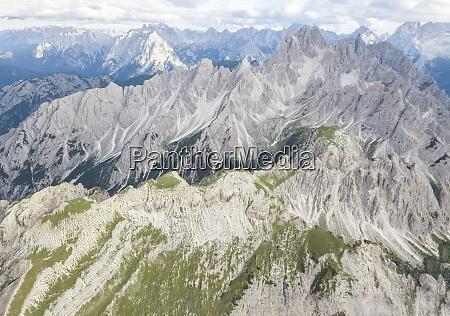 idyllic shot of rocky mountain peaks