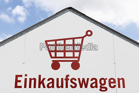 germany shopping cart pictogram on a