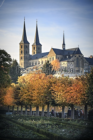 germany bamberg view to michelsberg abbey