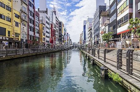 japan osaka dotonbori canal