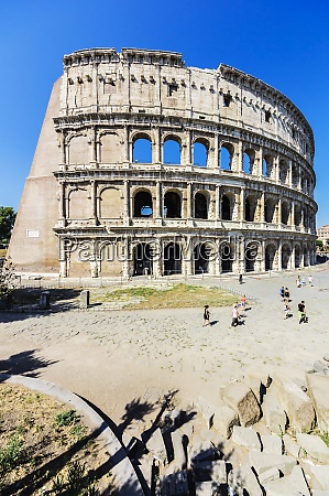 italy rome colosseum and tourists