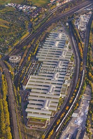 germany baden wuerttemberg stuttgart aerial view
