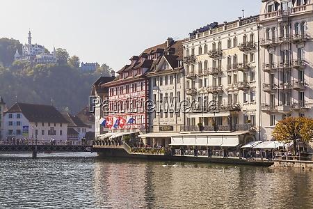 switzerland luzern hotels and outdoor gastronomy