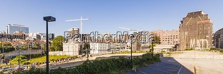 belgium brussels view to european quarter
