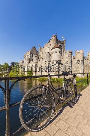 belgium ghent old town gravensteen castle