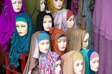 indonesia belitung headscarfs in a clothing
