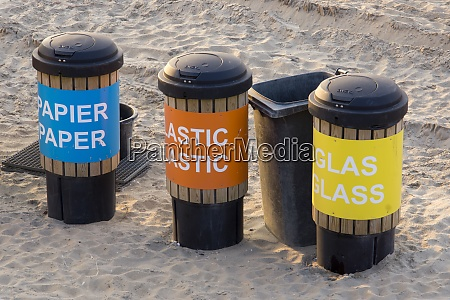 netherlands the hague scheveningen dustbin at