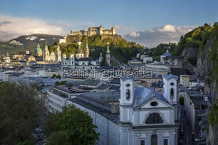 austria salzburg old town and castle