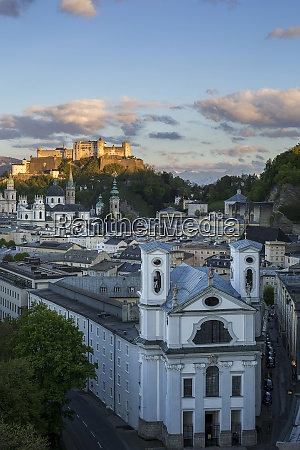 austria salzburg old town and castle