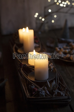 candles burning indoors during advent