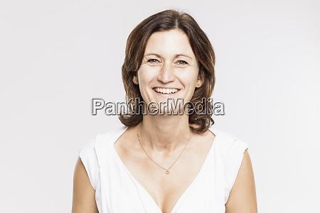 close up of smiling mature woman