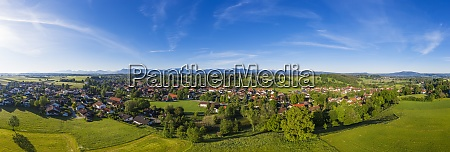 germany bavaria huglfing drone panorama of