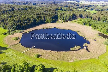 drone view of rothsee lake in
