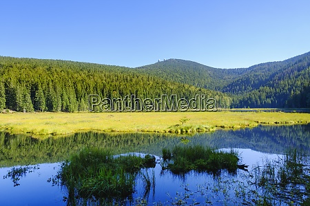 scenic view of kleiner arbersee lake
