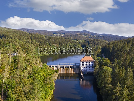 drone view of hydroelectric power station