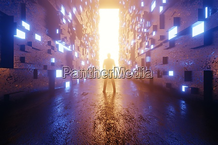 3d rendered illustration of person standing