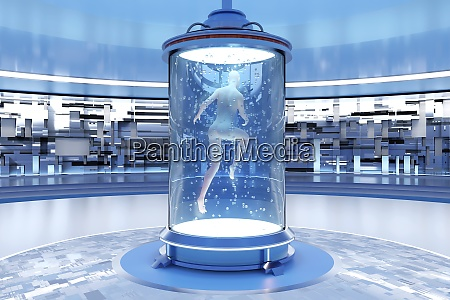 3d rendered illustration of gynoid being