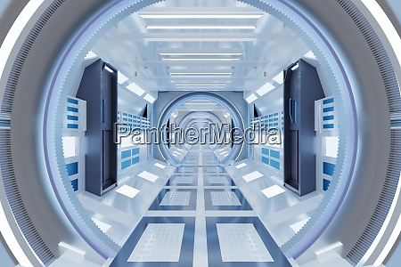 3d rendered illustration of illuminated futuristic