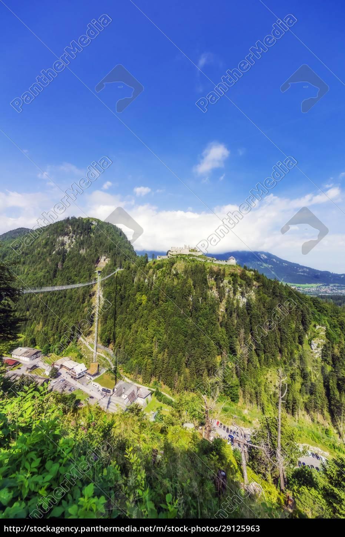 austria, , tyrol, , reutte, , ehrenberg, castle, overlooking - 29125963