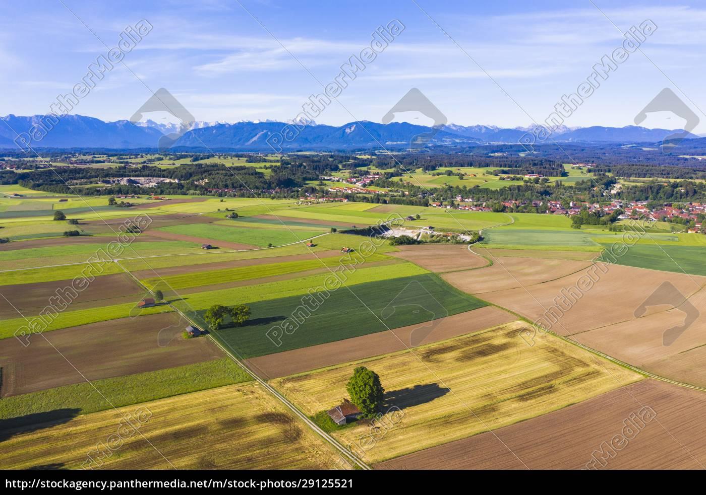 germany, , bavaria, , huglfing, , drone, view, of - 29125521