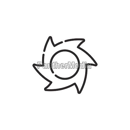 hurricane thin line icon category three