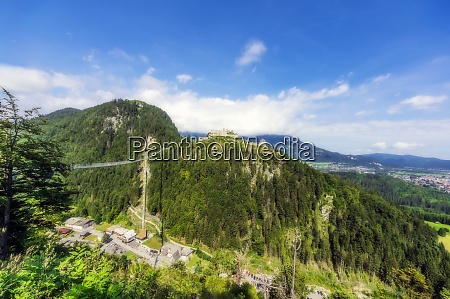 austria tyrol reutte ehrenberg castle overlooking