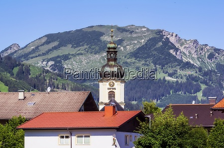 austria tyrol tower of village church