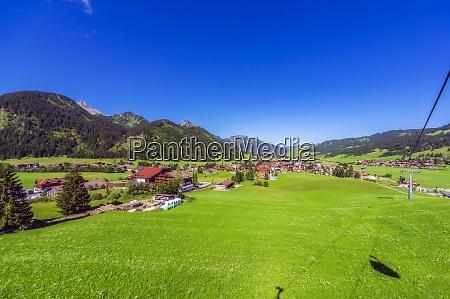 austria tyrol rural village in tannheimer
