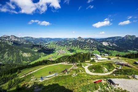 austria tyrol tourist resort in sunny