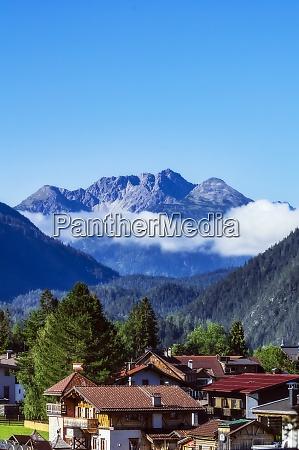 austria tyrol ehrwald mountain village houses