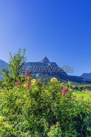 austria tyrol clear blue sky over