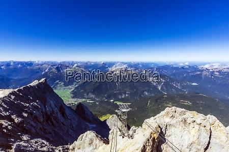 austria tyrol ski lift in wetterstein