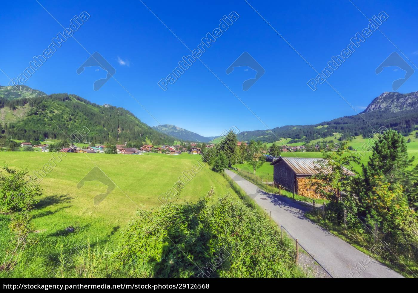 austria, , tyrol, , country, road, leading, to - 29126568