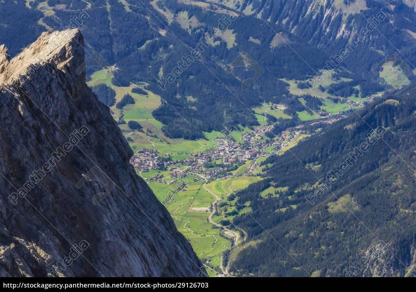 austria, , tyrol, , ehrwald, , alpine, town, in - 29126703