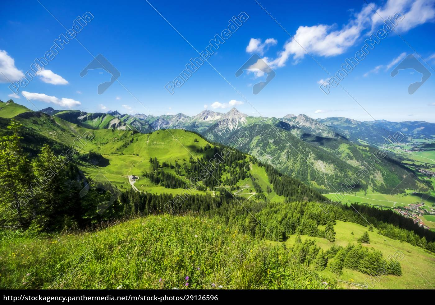 austria, , tyrol, , green, scenic, landscape, of - 29126596
