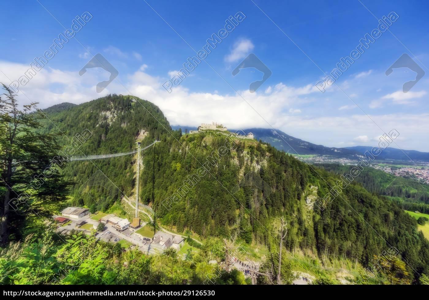 austria, , tyrol, , reutte, , ehrenberg, castle, overlooking - 29126530