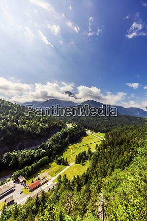 austria, , tyrol, , reutte, , green, forested, valley - 29126521