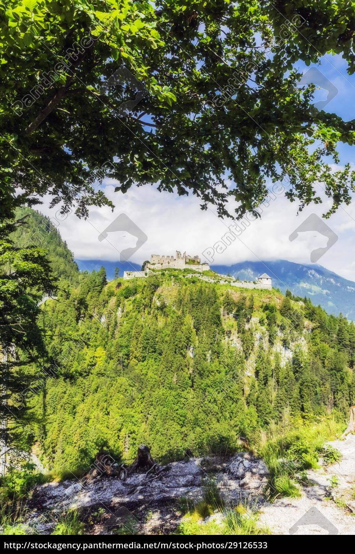 austria, , tyrol, , reutte, , ruins, of, ehrenberg - 29126533