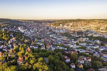 germany baden wurttemberg stuttgart aerial view